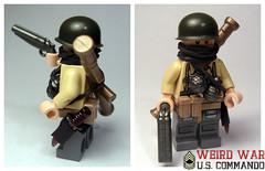 Weird War - U.S. Commando (. soop) Tags: world two bronze weird us war lego mr ww2 bazooka shotgun custom commando sheath soop brickarms brickforge