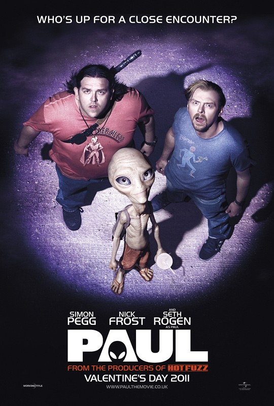 Paul poster Simon Pegg y Nick Frost