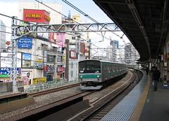 (Danburg Murmur) Tags: japan train geotagged tokyo jr   jumbo gotanda yamanoteline    gotandastation geo:lon=139723282 geo:lat=35626649