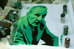William Seward Burroughs (soon in the streets) (SpUtNik 23 -RUR und MKZ) Tags: street streetart art up poster stencil paste w s william burroughs beat generation seward pochoir