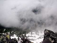 Spider Lake through clouds