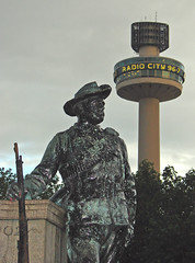 The watch tower (Mr Grimesdale) Tags: tower monument statue liverpool soldier 2008 radiocity merseyside stgeorgeshall stjohnsbeacon capitalofculture radiocitytower soldierstatue mrgrimsdale stevewallace capitalofculture2008 liverpoolcapitalofculture2008 dsch2 europeancapitalofculture2008 liverpoolcapitalofculture mrgrimesdale grimesdale