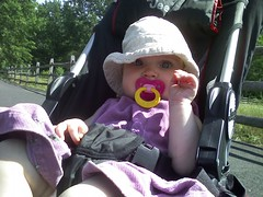 Talia in stroller, Upper Schuylkill Valley Park