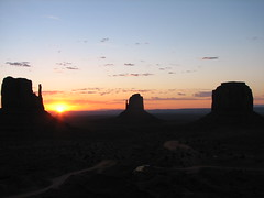 Sunrise over Monument Valley (Hazboy) Tags: arizona usa monument beautiful america sunrise utah us amazing native indian american valley navajo monumentvalley mittens reservation hazboy hazboy1