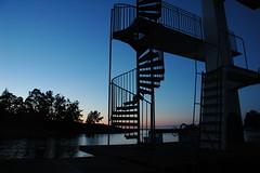 sol ned trappe op (now u see it [nowuseit]) Tags: sundown solnedgang oskarshamn gunnars