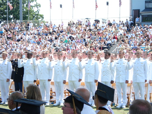 Graduation, Midshipmen taking oath of Office at USMMA