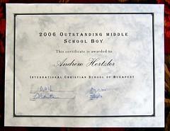 Andrew's Award