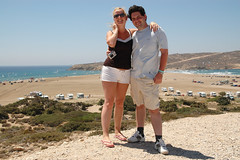 Majka with me at Prasonissi (Martin Hronsk) Tags: holiday geotagged island nikon europe martin d70s greece rodos rhodes rhodos vacantion majka prasonissi hronsky