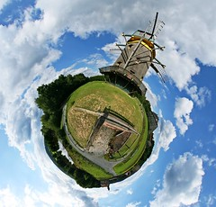Through the Winds (Man) Tags: famille panorama windmill germany frankfurt 360 full explore handheld 360x180 spherical planetoid hugin enblend hessenpark interestingness267 i500 littleplanet manuperez planetoids