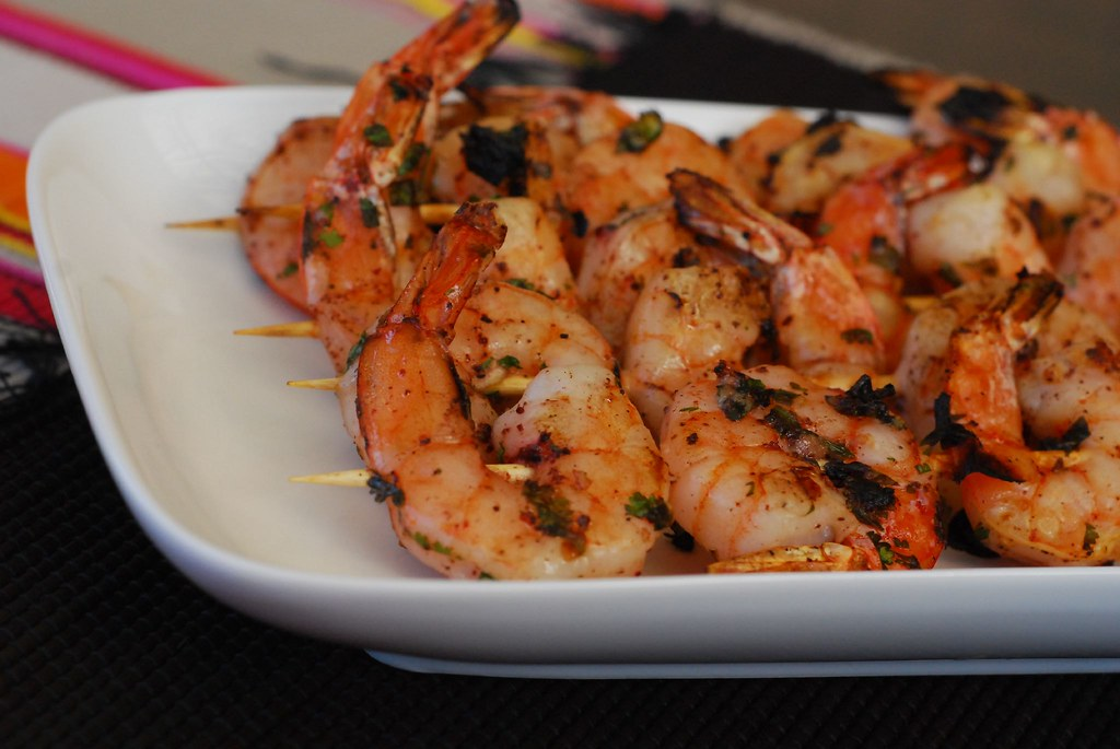 Grilled Prawns with Sumac and coriander