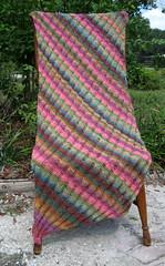 Clapotis DONE (Minerva Turkey) Tags: knit yarn shawl knitty noro clapotis silkgarden