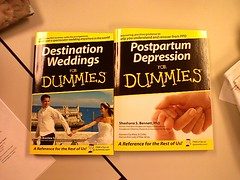 """Destination Weddings for Dummies"" and ""Postpartum Depression for Dummies"""