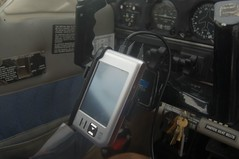 IPaq PDA on yoke mount