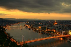 Budapest Sunset (dj.bp) Tags: longexposure sunset urban night river dark cityscape budapest kitlens nightphoto danube hdr a100 naturelovers 2xp sonyalpha sal1870 sony1870mm hccity