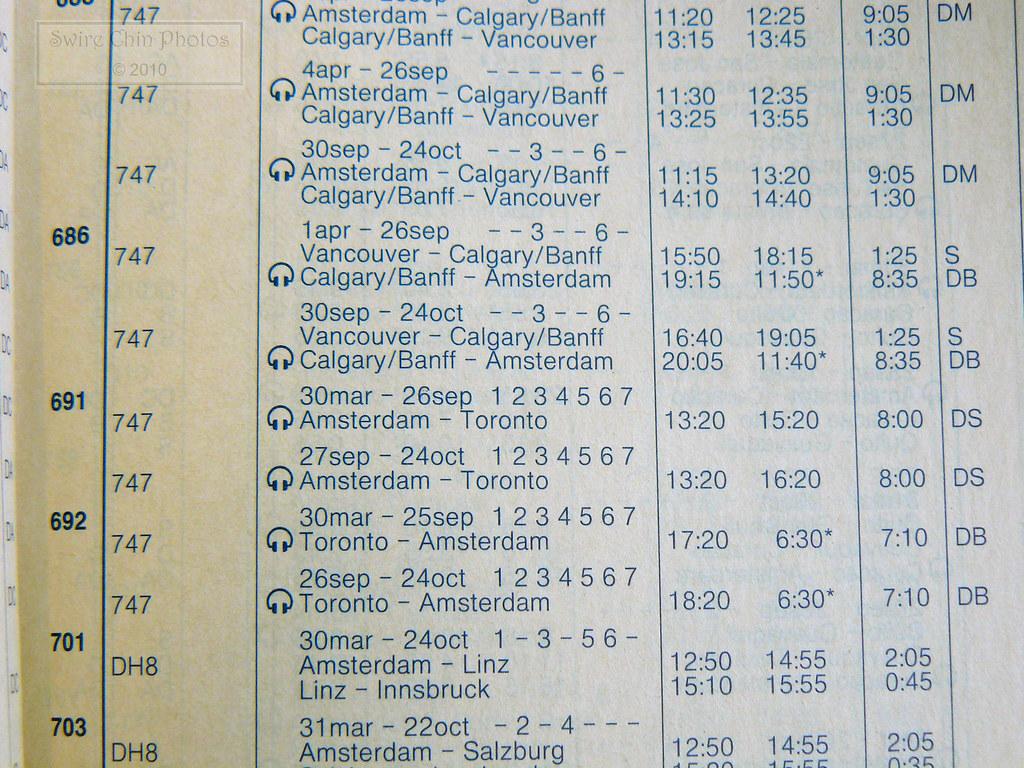 KL692/ KL691 Flight Schedule: Confirmed