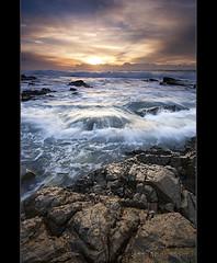 Morning Rush (danishpm) Tags: ocean seascape clouds sunrise canon rocks wave australia wideangle nsw aussie aus 1020mm manfrotto sigmalens eos450d hastingspoint 450d tweedshire sorenmartensen hitechgradfilters 09ndreversegrad