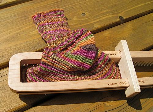 Skinny yarn sock