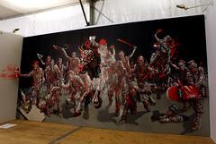 Triptyque Shaka (Chrixcel) Tags: painting cheval 3d peinture canvas exposition shaka triptyque bombe toile fiac ppa modèles nosbé