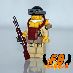 Upgraded 101st Paratrooper - WIP (Brick Mercenaries Custom Minifigures) Tags: world 2 history war lego mini ii figure custom screaming eagles paratroopers 101st minifigure paratrooper brickarms brickforge