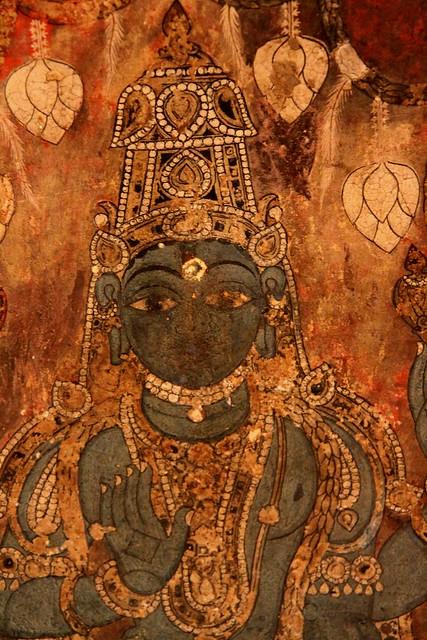 Fresco inside Chandranatha Basti