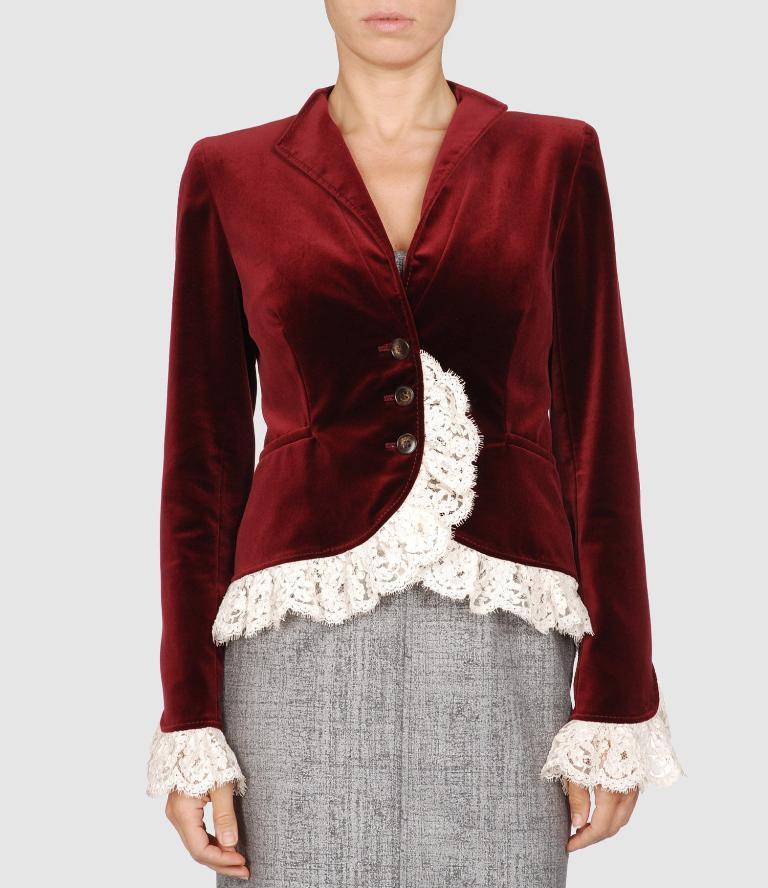 Valentino velvet lace ribbon blazer 1