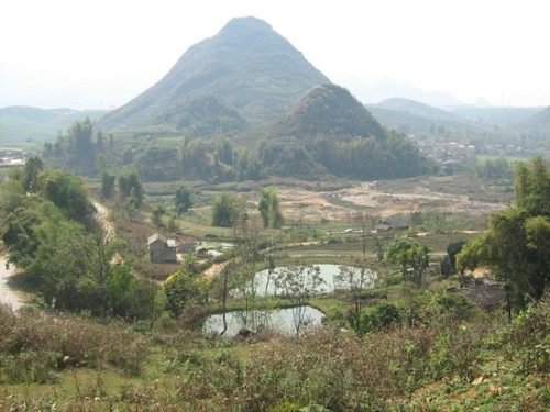 Small hill and fields, Lai Chau, Vietnam