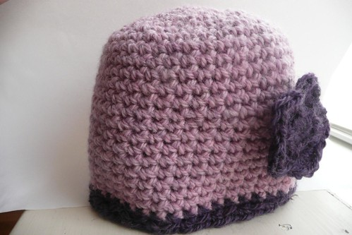 Pink and Purple Beanie