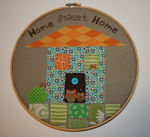 Hoop #2 for my partner in the Scrappy hoop swap