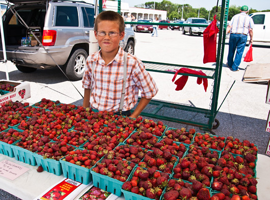 farmer's market Strawberry Vendor