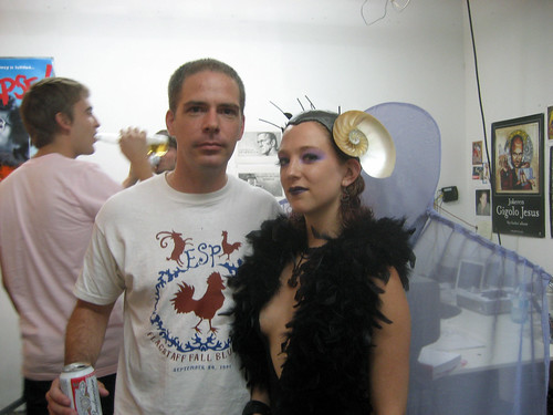 "Martin Bromirski and Carol ""Riot"" Kane at Tom Sanford's studio"