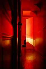 red door_0551 (trimmer741) Tags: door light sleeping red open apartment floor room corridor explore