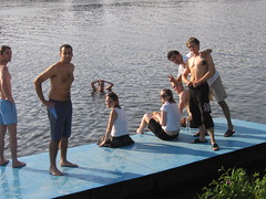 Swimming in the Vltava