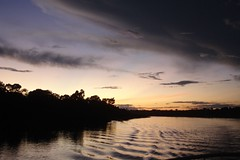 Amazonian sky at sunset (10b travelling) Tags: sunset brazil sky peru latinamerica southamerica water rio ctb project river agua amazon rainforest aqua eau wasser dusk research volunteering jungle ten volunteer americas carsten mizu sudamerica brink earthwatch 10b yavari cmtb tenbrink
