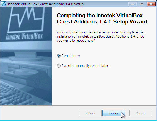 Fig. 8 - installazione VirtualBox Guest Addition in Windows Vista -  richiesta riavvio PC