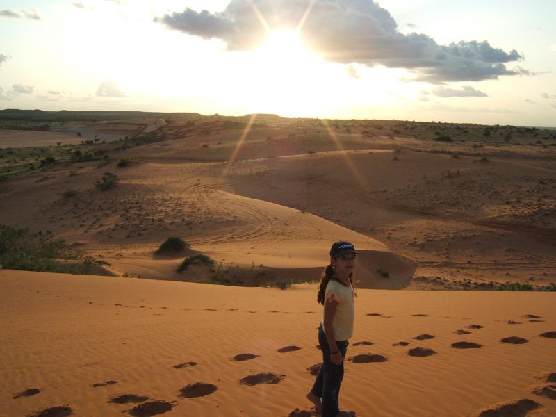 Coucher de Soleil sur la mer de sable