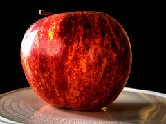 Apple (djamesm) Tags: red black macro apple fruit contras aplusphoto