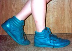blue RFH (Sneakerluvr) Tags: wet fetish nike sneaker reebok