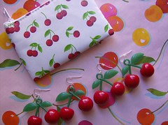Cherries! (Pinks & Needles (used to be Gigi & Big Red)) Tags: cherry coinpurse cherryearrings cherrycoinpurse