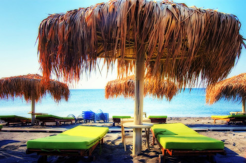Playa Perivolos en Santorini