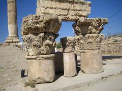 Corinthian Capitals (moby_life) Tags: citadel capital amman jordan explore corinthian column 2007 haire isted