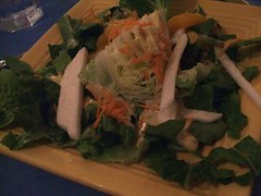 Wedge and green salad