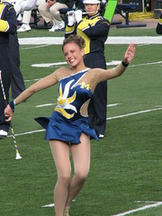 Twirl it Girl (bekahlp) Tags: football annarbor notredame universityofmichigan wolverines collegefootball big10