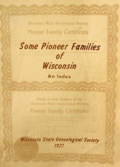 Pioneer Families of Wisconsin