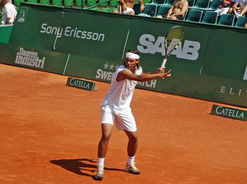 Rafael Nadal forehand swing por Michael Erhardsson.