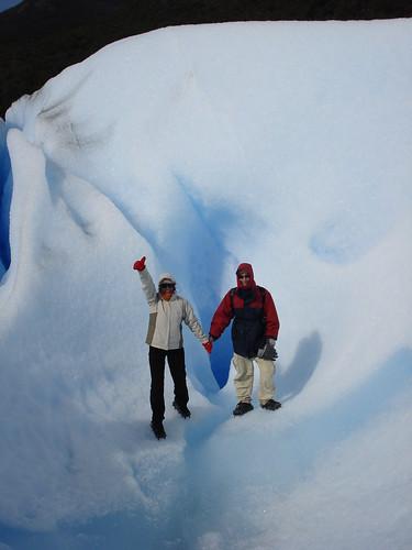 Un pozo en mitad del glaciar