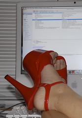FUTAB Stripper Style (Orlando Photo Chic) Tags: red selfportrait feet foot shoes stripper abi heals strippershoes highheals 365days redhighheals futab feetuptakeabreak 6inchheals hoockershoes