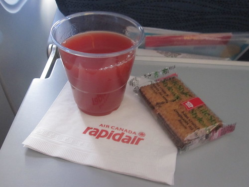 Tomato juice, cookies - on the plance (included)