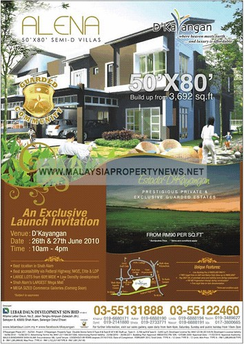 Semi-D Villas for sale in Shah Alam