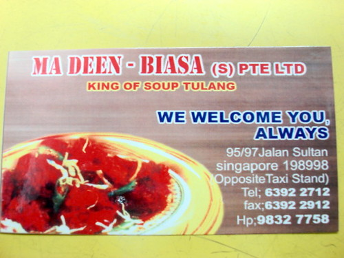 Ma Deen Biasa Pte Ltd - sup tulang merah singapore