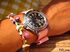 Boctok Komandirskie Tank with pink nato on my girlfriend's wrist (FLO_mac ) Tags: pink tank elly vostok frifri boctok wristshot wostok komandirskie pinknatostrap